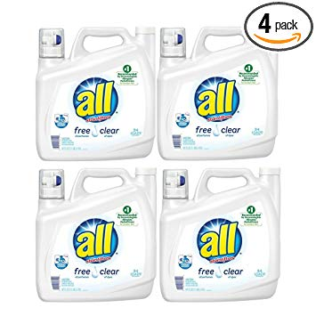 all Liquid Laundry Detergent, Stainlifters- Free & Clear - 141 oz (4 Pack)
