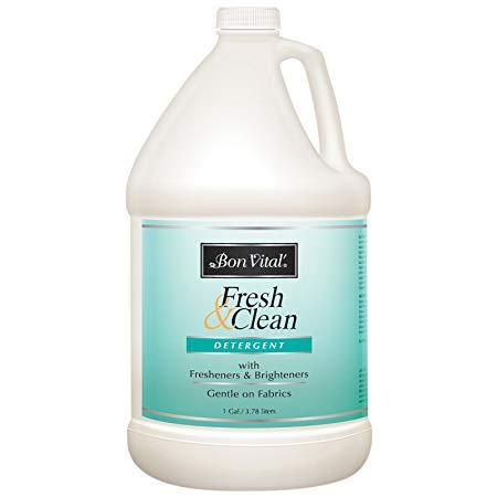 Bon Vital' Fresh and Clean Detergent, Laundry Detergent for Massage Therapists, Clean Massage Sheets & Linens, Remove Massage Oil, Lotion, Gel, Cream Strains, 1 Gallon Bottle