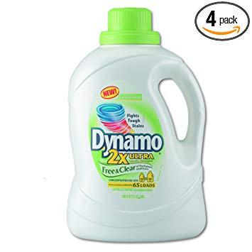Dynamo 48116 2Xultra Laundry Detergent, Free & Clear, 100oz Bottle (Case of 4)