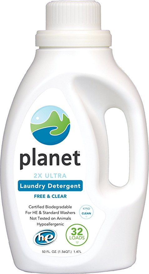 Planet 2X Ultra Laundry Detergent, Unscented, 50 Fluid Ounce (Pack of 4)